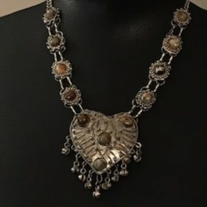 Vintage Heart and Stone Necklace